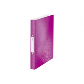 Leitz Ringbuch WOW A4 PP 2RR 25mm pink metallic