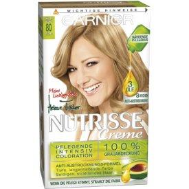 Garnier Dauerhafte Haarfabe Intensiv Coloration Nutrisse 80 vanilla Blond