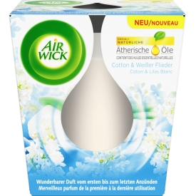 Airwick Duftkerze Essential Oils Cotton & Weisser Flieder