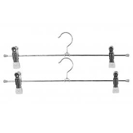 Mawa Klemm-Hosenbügel Superclip Metall mit 2 Clips 40cm silber 2er Pack