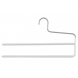 Mawa Steg-Hosenbügel KH 2 mit 2 Stegen Metall 35cm silber