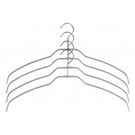 Mawa Trocken-Bügel Silhouette light Metall 42cm silber 4er Pack