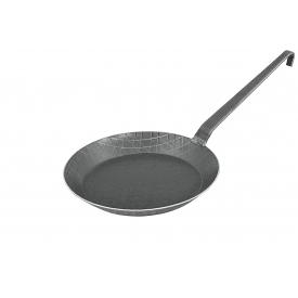 Turk Bratpfanne schmiedeeisern mit Hakenstiel Ø24cm schwarz