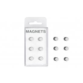 Zeller Present Magnet Edelstahl extra-stark auch für Glasmagnettafeln ,8cm silber 6 Stück