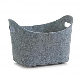 Zeller Present Aufbewahrungskorb Filz oval 31,5x19x21cm grau