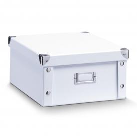 Zeller Present Aufbewahrungsbox Pappe 31x26x14cm weiß