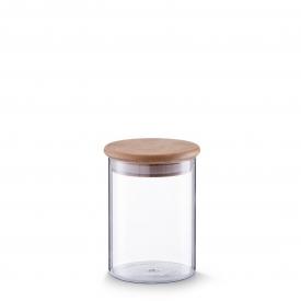 Zeller Present Vorratsglas mit Bambusdeckel 750 ml 14cm Ø10,5cm klar