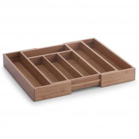 Zeller Present Besteckkasten Bamboo ausziehbar 5 - Fächer 28,5-40x33x5cm natur