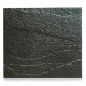 Zeller Present Herdabdeckplatte Schiefer Glas 56x50cm anthrazit
