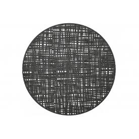 Zeller Present Tischset Scribble ø38cm schwarz