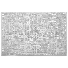Zeller Present Tischset Scribble 30x45cm silber