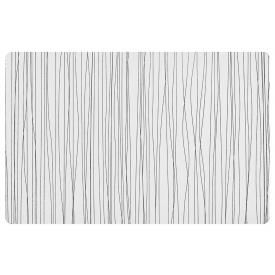 Zeller Present Tischset Metallic 43,5x28,5cm weiß