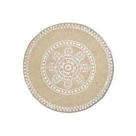 Zeller Present Tischset Mandala Leinen ø38cm natur