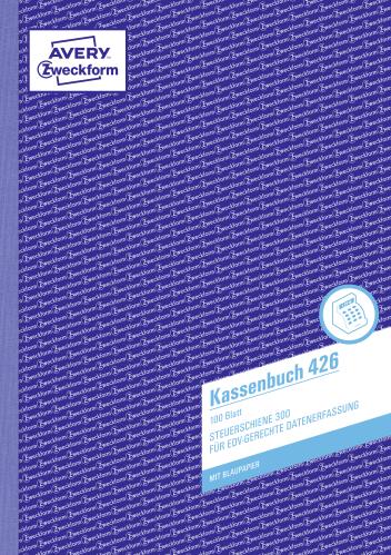 Avery Zweckform Kassenbuch 426 A4 EDV 100 Blatt