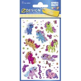Avery Zweckform Sticker 56063 Einhorn Glitter 1 Bogen