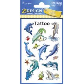 Avery Zweckform Tattoos 56439 Delfine 1 Bogen
