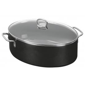 Silit Bräter Professional oval 8,1 l 36,5x25,5x20cm Silargan schwarz mit Deckel