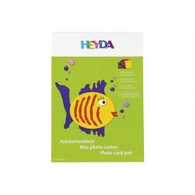 Heyda Fotokartonblock A4 10 Farben sortiert 10 Blatt