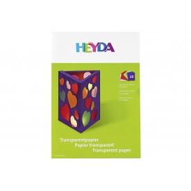 Heyda Transparentpapier Sammelmappe 20x30cm 10 Farben sortiert 10 Blatt