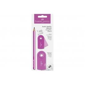 Faber Castell Bleistiftset Jumbo Sparkle pearl pink