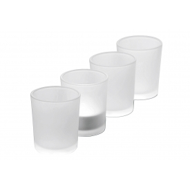 Sandra Rich Teelichthalter Promo Glas satiniert 6,5cm Ø5,2cm klar