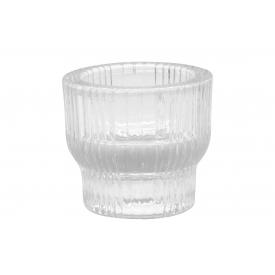 Sandra Rich Teelichthalter/ Stabkerzenhalter Shine Stripes Glas 5,5cm