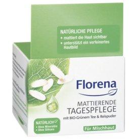 Florena Tagespflege Mattierende Grünem Tee Reispuder