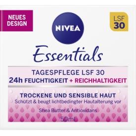 Nivea Tagescreme Essentials Feuchtigkeit & Reichhaltigkeit LSF 30