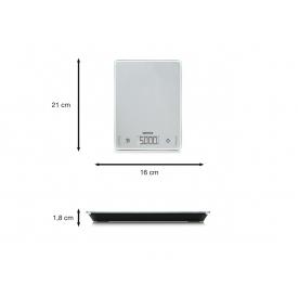 Soehnle Küchenwaage Page Comfort 100 digital 5kg Tragkraft silber