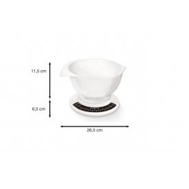 Soehnle Küchenwaage Culina pro analog 5kg Tragkraft weiß mit Rührschüssel