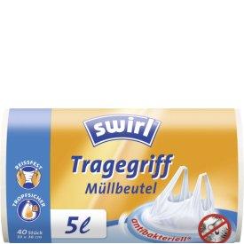 Swirl 5 l Müllbeutel Tragegriff antibakteriell