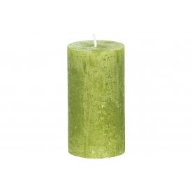 Bolsius Stumpenkerze Rustiko 13x7cm grün