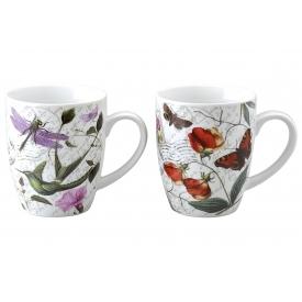Retsch Kaffeebecher Floral farbig sortiert 360 ml 10,3cm Ø8,5cm