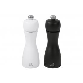 Peugeot Pfeffer- und Salzmühle Tahiti Duo Buchenholz 15cm schwarz/weiß