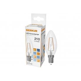 Merkur LED Faden Kerzenlampe Retrofit E14 210lm 2 Watt