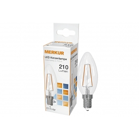 Merkur LED Faden Kerzenlampe Retrofit E14 420lm 4 Watt