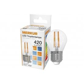 Merkur LED Faden Tropfenlampe 4W=40W E27