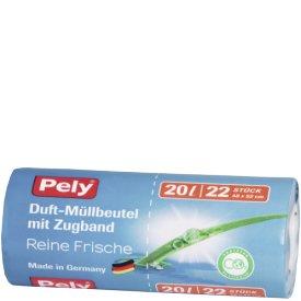 Pely 20 l Duft-Müllbeutel mit Zugband Reine Frische