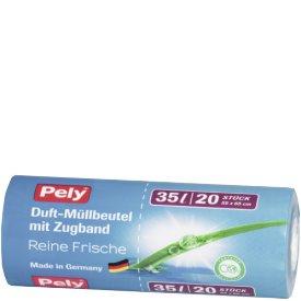 Pely 35 l Duft-Müllbeutel mit Zugband Reine Frische