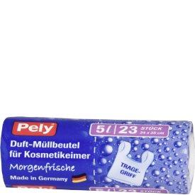 Pely Duft-Müllbeutel für Kosmetikeimer Morgenfrische 5 l