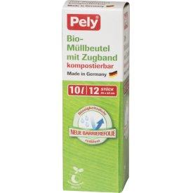 Pely 10 l Clean kompostierbare Bio-Müllbeutel mit Zugband