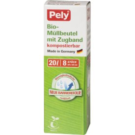 Pely 20 l Bio-Müllbeutel kompostierbar mit Zugband