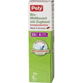 Pely 35 l Bio-Müllbeutel kompostierbar mit Zugband