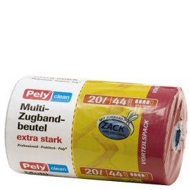 Pely 20 l Clean Zugbandmüllbeutel extra stark