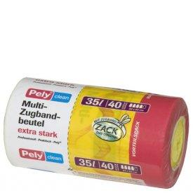 Pely 35 l Clean Zugbandmüllbeutel extra stark