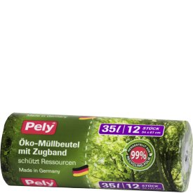 Pely Clean Öko Müllbeutel 35L Zugband