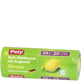 Pely 35 l Clean Duft Müllbeutel mit Zugband Zitrone