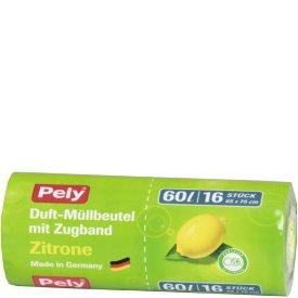 Pely 60 l Clean Duft Müllbeutel mit Zugband Zitrone
