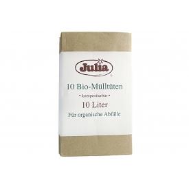 Julia Müllbeutel Bio Papier 10 l 10er Pack
