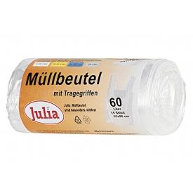 Julia Müllbeutel mit Tragegriffen 60 l 15Stück Rolle